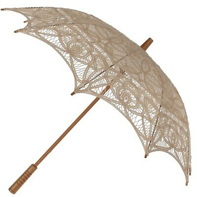 Lace Parasol With Protective Slip Case Wedding Fancy Dress Sun Parasol New 4 COL