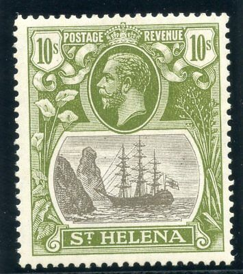 St Helena 1922 KGV 10s grey & olive-green MLH. SG 112. Sc 93.