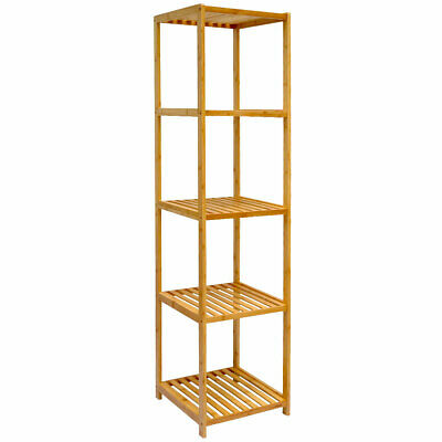 WANDREGAL 54X60X15CM BAMBUS Bad-Regal 3 Fächer Holz Ablage ...