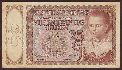 Niederlande / Netherlands 25 Gulden 1944 3AS Pick 60  (3) VF