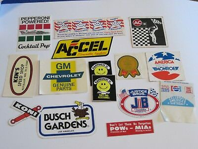 Lot of Vintage Car/Auto/Misc Stickers/Decals Chevy Caprice GM Monroe NOS