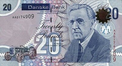 Nordirland / Northern Ireland, Danske Bank 20 Pounds 2013 Pick 213 (1)
