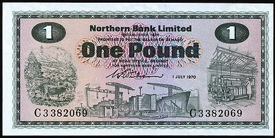 Nordirland / Northern Ireland 1 Pound 1970 Pick 187a (1)
