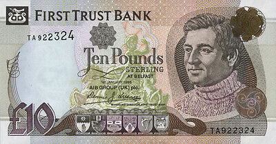 Nordirland / Northern Ireland, First Trust Bank 10 Pounds 1998 Pick 136a (1)