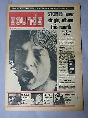 SOUNDS 17th April 1971 ~ Rolling Stones ~ Robert Wyatt ~ Faces!