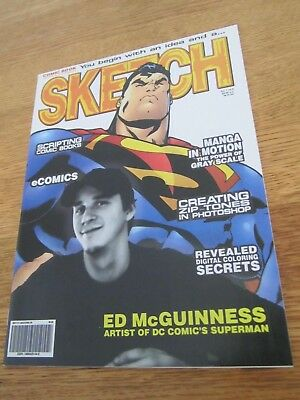 Sketch #9-Comic Art Magazine-Superman-Ed McGuinness-Manga