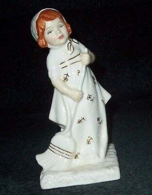 """Royal Doulton """"Helping Mother"""" HN4228 Ivory & Gold Series LE#540 Perfect England"""