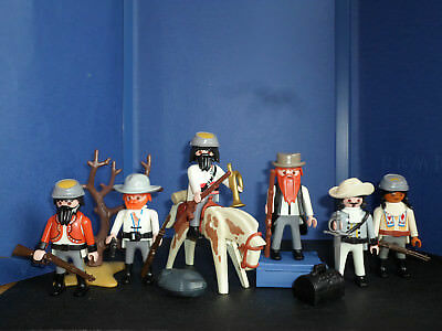 6 SÜDSTAATEN SOLDATEN CIVIL WAR 1861-1865 vs. INDIANER WESTERN TOP PLAYMOBIL TOP