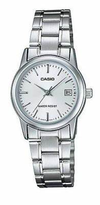 Casio LTP-V002D-7A Women's Watch Stainless Steel SILVER Analog DATE Display