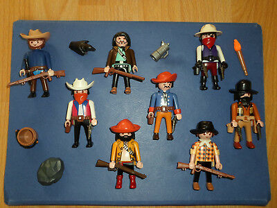 8 COWBOYS vs. SOLDATEN INDIANER MEXIKANER WESTERN TOP PLAYMOBIL PFERD