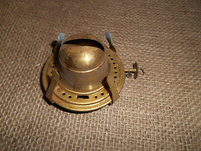 "Vintage English  Brass Oil Lamp 1"" Wick Screw On Burner .old Shop Stock"