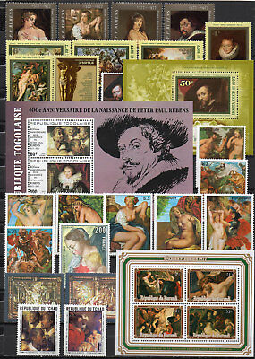 Peter Paul Rubens different editions, MNH (1590