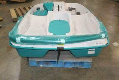Sun Dolphin 96 in L x 65 in W 5 Seat Pedal Boat w/ Canopy & NEW SUN Dolphin AQUA Sun Slider Adjustable 4 Seat Lounger Pedal ...