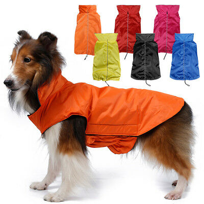 For Small Medium Large Dogs Waterproof Lightweight Puppy Coat Jacket Reflective
