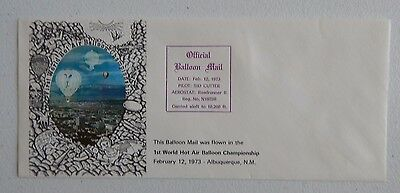 AIBF OFFICIAL Sid Cutter Balloon Mail 1st Hot Air Balloon World Championships