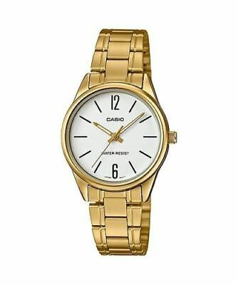 NEWEST Casio LTP-V005G-7B Women's GOLD-tone Stainless Steel Watch Analog Dial
