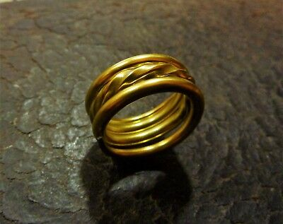 Ancient Viking  Brass Spiral Ring (1211) .