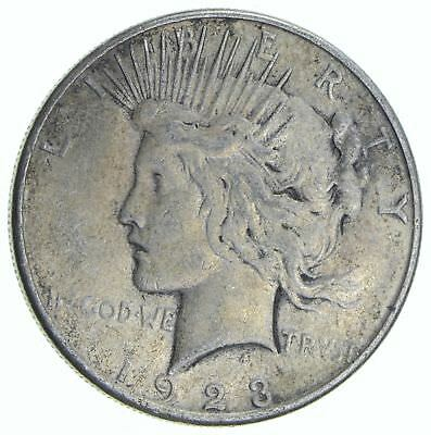 Early 1923-S Peace Silver Dollar - 90% Silver - US Coin *267