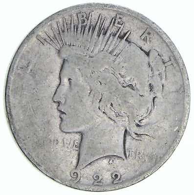 Early 1922-D Peace Silver Dollar - 90% Silver - US Coin *259