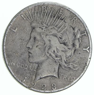Early 1923-S Peace Silver Dollar - 90% Silver - US Coin *266