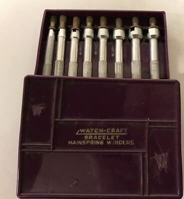 Tools From Watchmakers Estate, Watch-Craft Mainspring Winders, Original Case !!