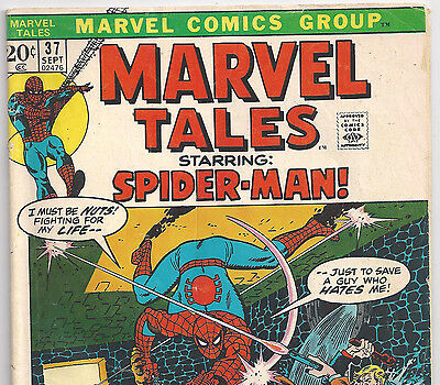 The Amazing Spider-Man #52 Reprint in Marvel Tales #37 from Sept. 1972 in VG-