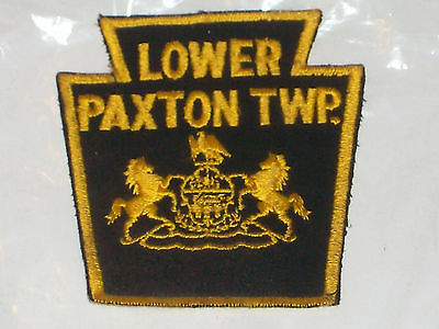 Vintage black & yellow Lower Paxton TWP.  police arm patch. Lower Paxton. Pa