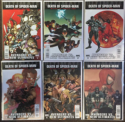 Avengers vs New Ultimates 1 2 3 4 5 6 Death Of Spider-Man Millar Complete Set Nm