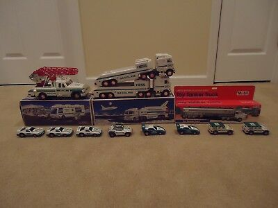 14 pcs Hess Mobil Trucks New and loose 1993 1994 1995 1998 1999 2001