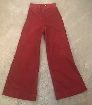 Vintage Time and Place Copper Cord Bell Bottom Slacks Pants Jeans Inseam 29.5