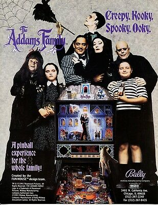 The Addams Family Pinball Flyer Mint / Brochure / Ad