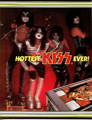 Kiss Pinball Flyer / Brochure / Ad Mint Condition - Single Page