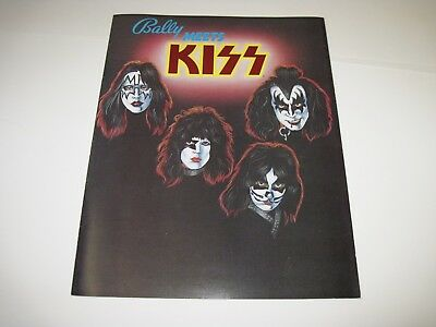 Kiss Pinball Flyer / Brochure / Ad Mint Condition