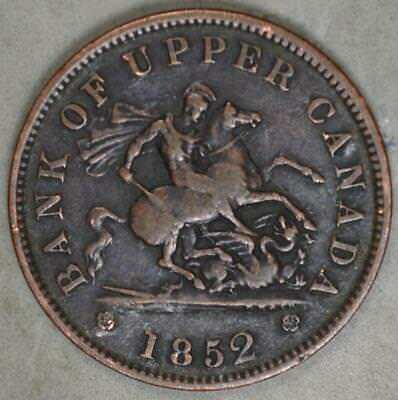 1852 Bank of Upper Canada Penny Token - Saint George