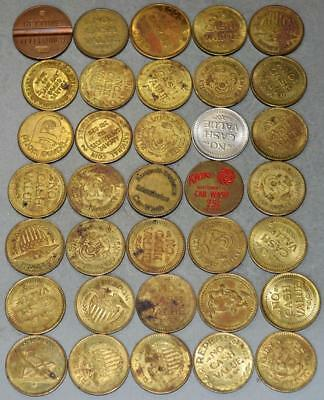 Lot of 35 Tokens