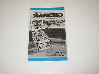 Rancho Gottlieb Pinball Postcard in French - Not a Flyer