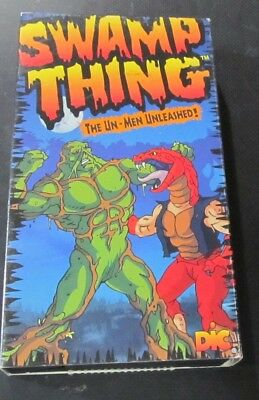 Swamp Thing The Un-Men Unleashed Vhs Cartoon 1990 Animated Dic Dc Comics