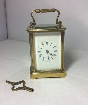 Beautiful Working Antique Brevet S.G.D.G Brass Carriage Clock French