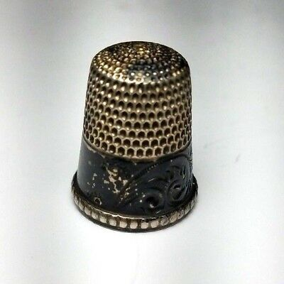 Antique Sterling Silver Thimble by Simon Brothers Size 9-Free USA Ship