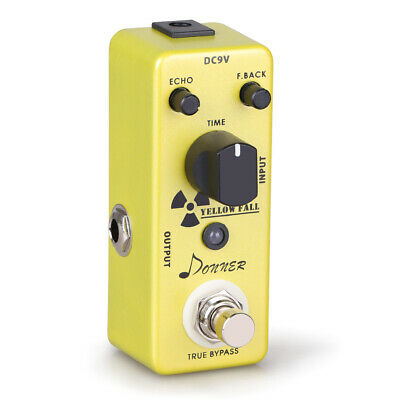 Donner Yellow Fall Delay Guitar Effect Pedal Pure Analog Whole Circuit Delay NEW
