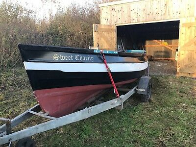 Fibreglass Yorkshire Coble Fishing Boat with Trailer & Winch
