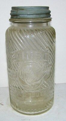 vintage Jumbo apple butter jar pic elphant Frank tea & spice Co Cinn,Ohio