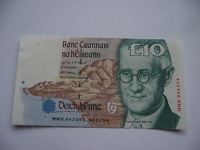IRLAND. BANK of IRELAND. UNC £10 POUNDS BANKNOTE (02.07.1999) Letztes Datum!