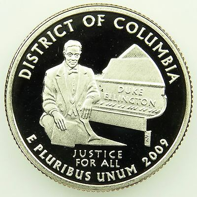 2009 S Deep Cameo Clad Proof Washington D.C. District of Columbia Quarter (B04)