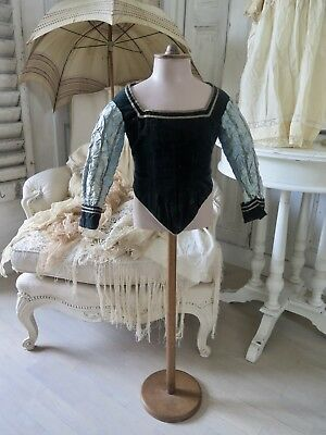 FRENCH 19c Antique  rare Childs BODICE Costume 19 Jhd Antik Frankreich NAPOLEON