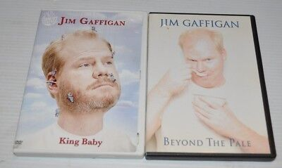 lot of 2 JIM GAFFIGAN Comedy DVD Beyond the Pale / King Baby