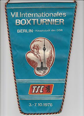 Orig.Wimpel   VII.Internationales Turnier im Boxen  BERLIN 1976  !!   SELTEN
