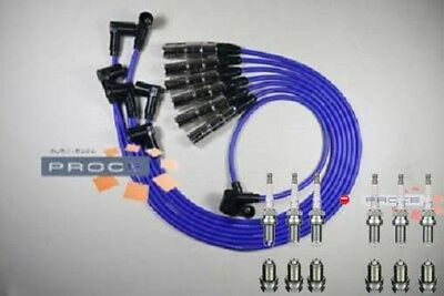 Ignition Leads VW Gold Passat Vento 2,8 2,9 VR6 AAA ABV 6 Spark Plug Blue