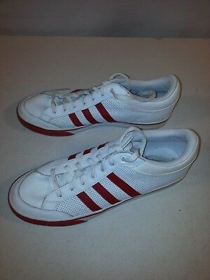 timeless design 6a76b de463 Adidas Americana Athletic Shoes Size 12 Red Stripes on White