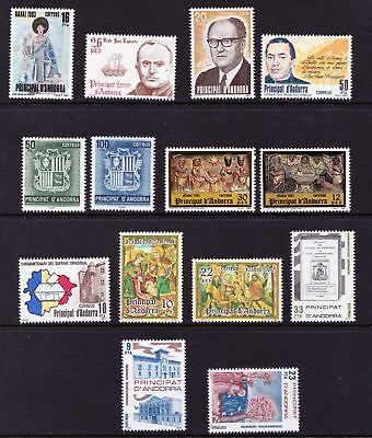 Spanish Andorra 1980s Small; Selection of MNH stamps  - (87)